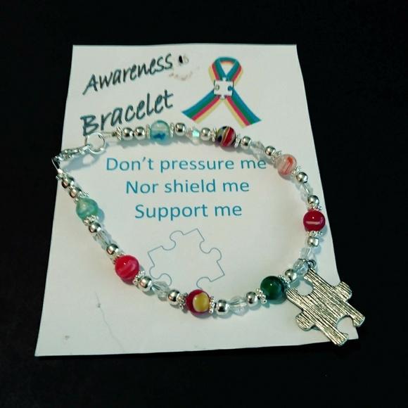 J & K Jewelry - 💙 NWT Autism Awareness Bracelet with Jigsaw Charm